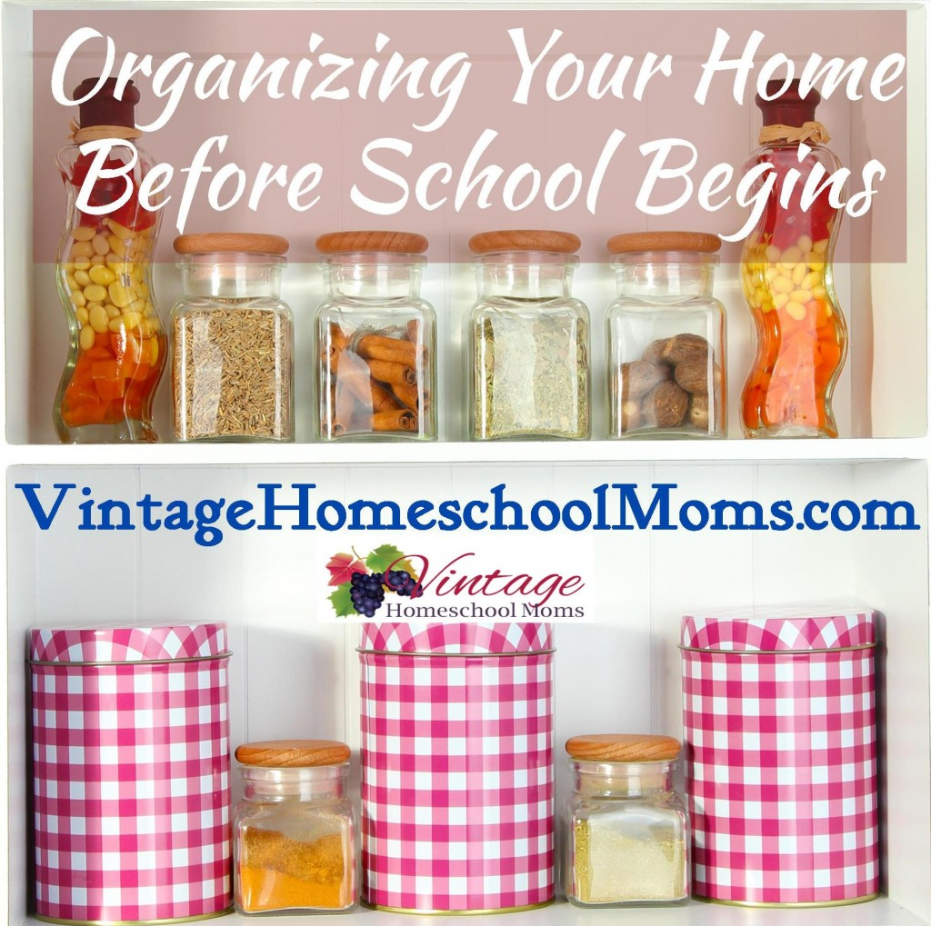 organize your home and homeschool