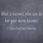 Dollars and Sense Show # 3: What a business plan can do for your micro business