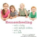 Homeschooling With Littles (and a little about Canadian Homeschooling)