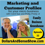 Marketing and Customer Profiles in a Micro Business. Dollars and Sense Show # 33