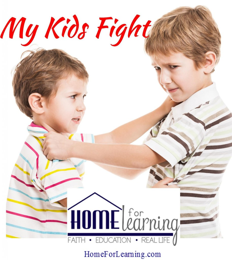 Do your kids fight? Homeschooling isn't a magic wand. Our kids are still human. Tips and guidance to help you through.
