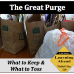 Simplify Your Life; The Great Purge
