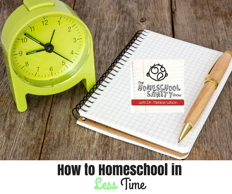 How to Homeschool in Less Time: The Homeschool Sanity Show podcast