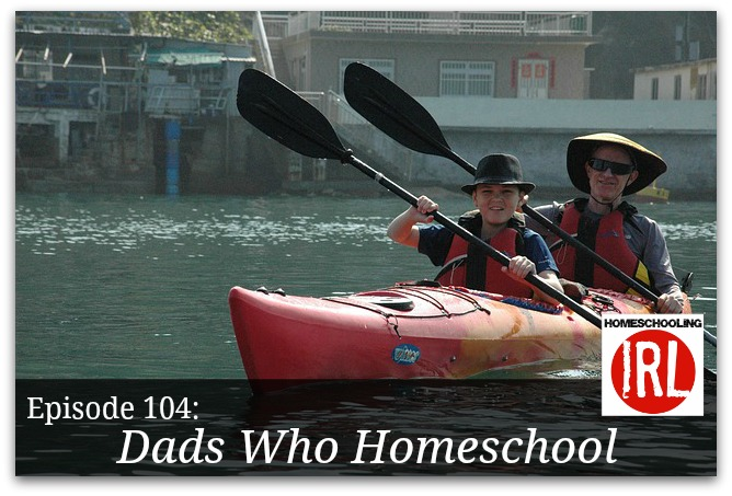 Free homeschool podcast about what it looks like when mom works and dad stays home to teach.