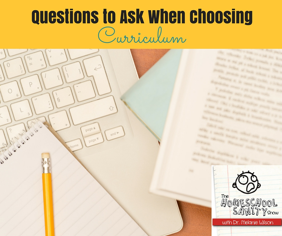 Questions to Ask When Choosing Curriculum