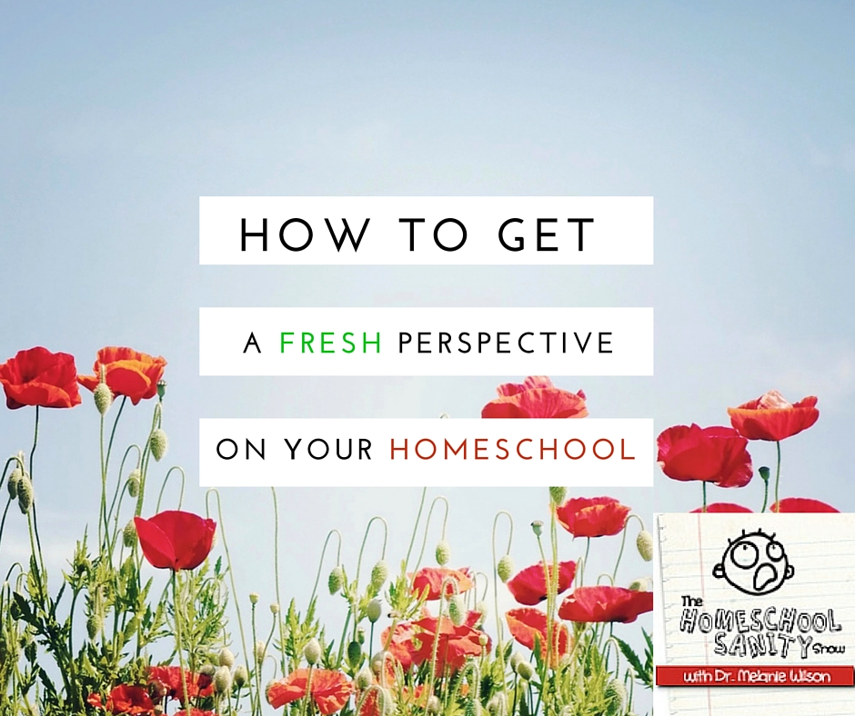 how to get a fresh perspective on your homeschool The Homeschool Sanity Show podcast