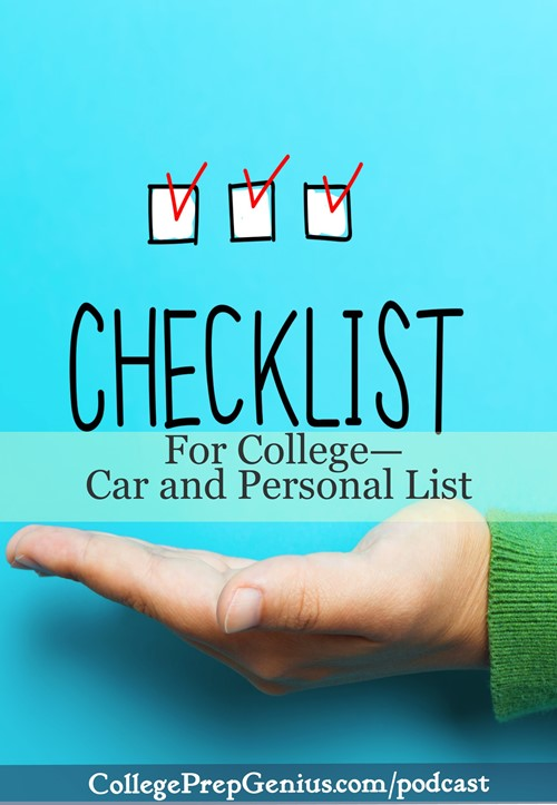 checklist for college - car and personal