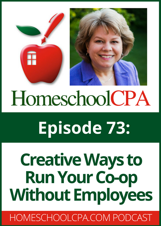 So you really don't want your homeschool co-op to hire teachers as employees, but how can you run your group without them? Carol Topp, the HomeschoolCPA , offers a few creative ways to run a homeschool co-op without hiring employees or dealing with payroll.