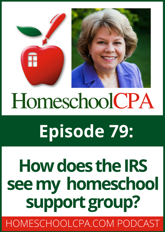 How does the IRS see my homeschool support group?