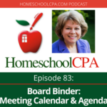 Board Binder: Meeting Calendar and Agenda