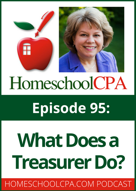 Carol Topp of HomeschoolCPA explains the tasks a treasurer does in your homeschool board and why her position needs lots of oversight.