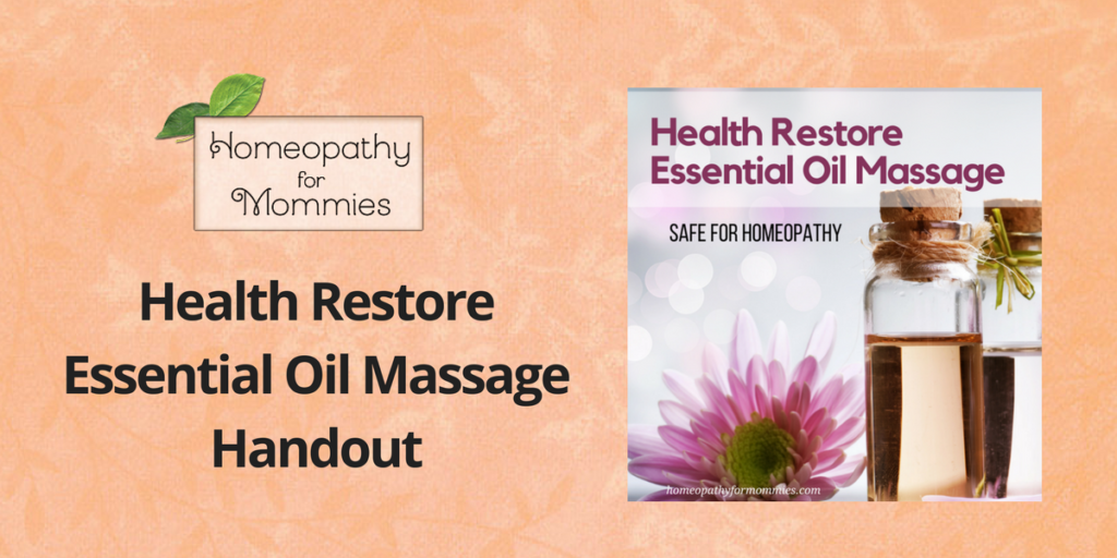 Health Restore Massage Handout