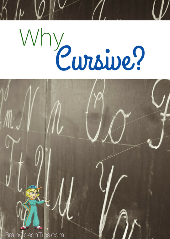 Why Cursive? With the Brain Coach, Dr. Jan Bedell.