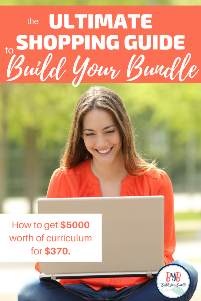 If you want to maximize your savings during the Build Your Bundle sale,  you can do it in a cinch with the Ultimate Shopping Guide to Build Your Bundle.  I'm going to show you how to get $5000 worth of curriculum for $370.