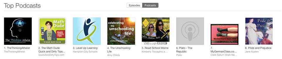Ranked Top 5 in Educational Podcasts on iTunes
