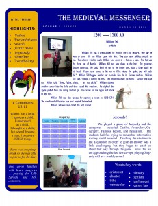 newsletter front sample