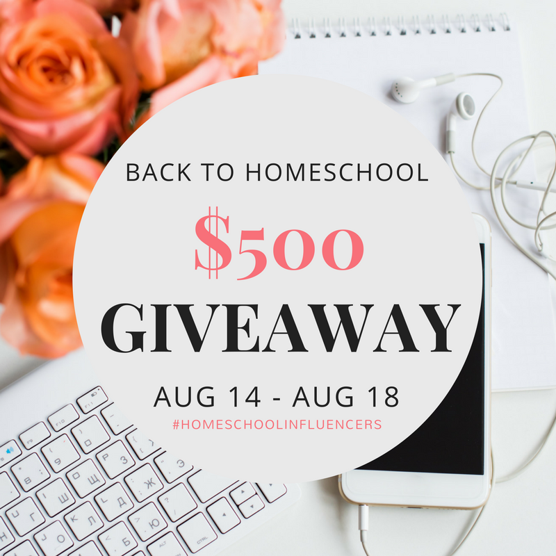 Back to Homeschool Giveaway #HomeschoolInfluencers Aug 14 - Aug 18 |UHRN Instagram