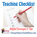 Vintage HS Moms – Homeschool Teaching Checklist