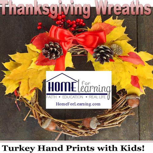 TurkeyHandPrintWreaths_HomeForLearning