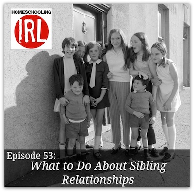 Free homeschool podcast discussing sibling rivalry.