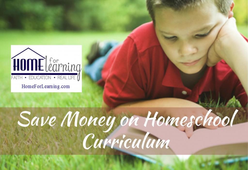 Save Money on Homeschool Curriculum, save money on homeshool books