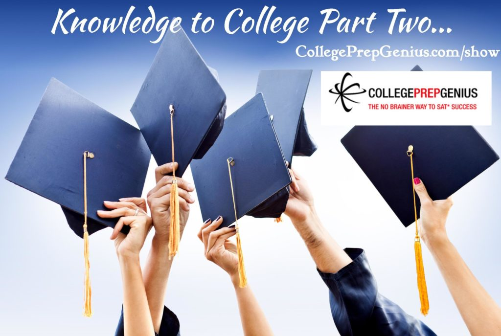 knowledge to college admissions