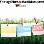 Back To Homeschool Lists