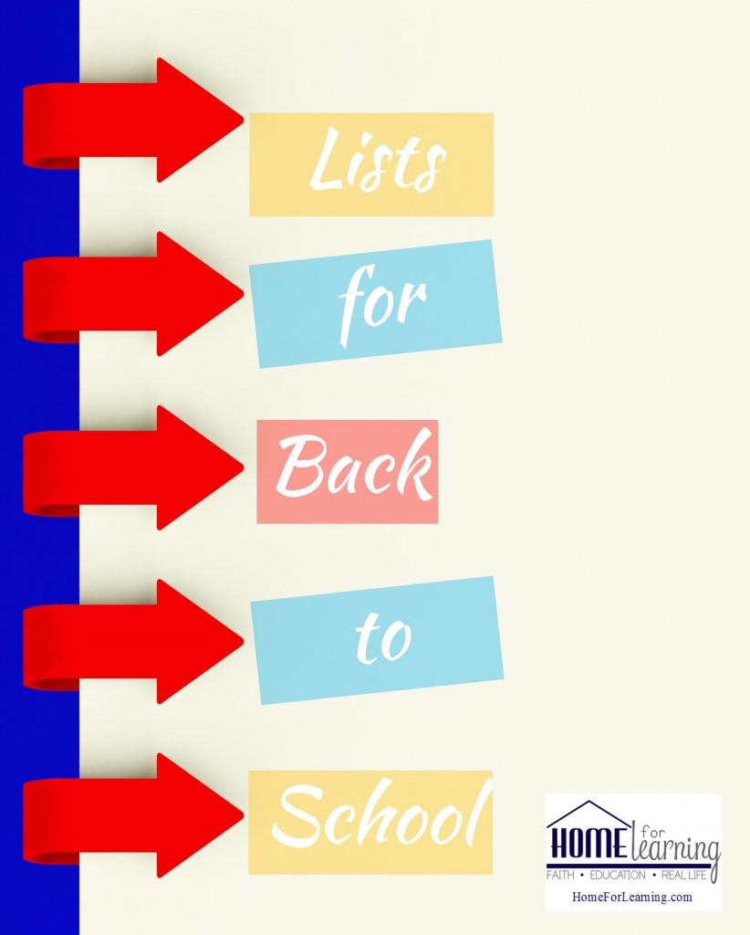 back to school lists