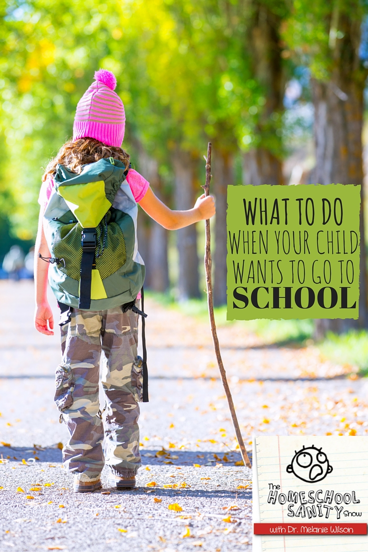 What to Do When Your Child Wants to Go to School: The Homeschool Sanity Show Podcast