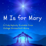 Download this free Nativity activity book about Mary