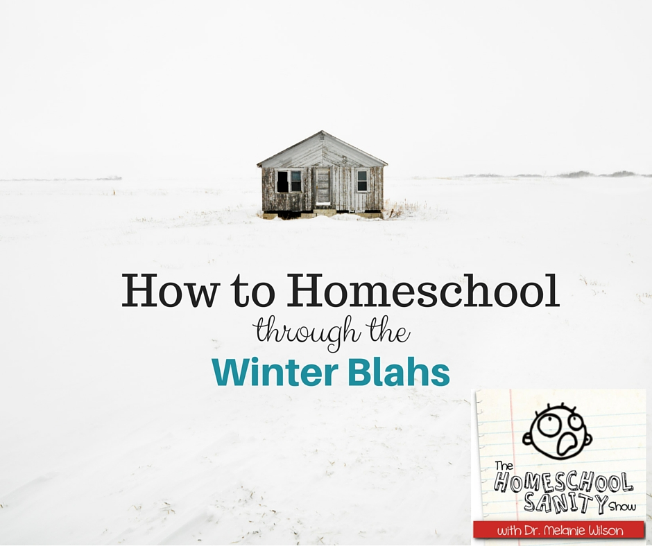 How to Homeschool Through the Winter Blahs: The Homeschool Sanity Show Podcast