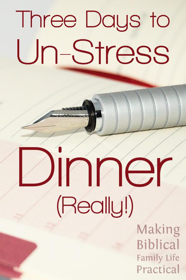 MBFLP - UnStress Dinner