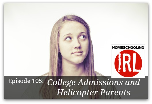 Free homeschool podcast about college admissions