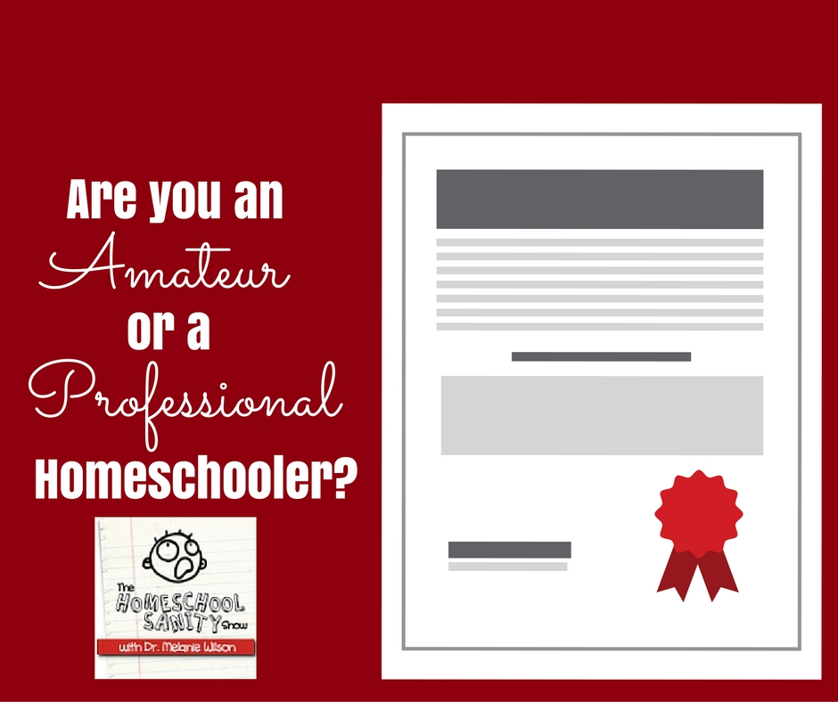Are you an amateur or professional homeschooler? The Homeschool Sanity Show Podcast