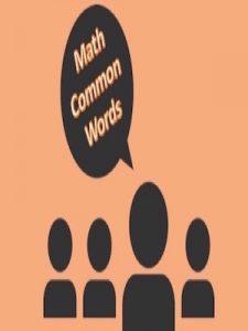 Math Common Words