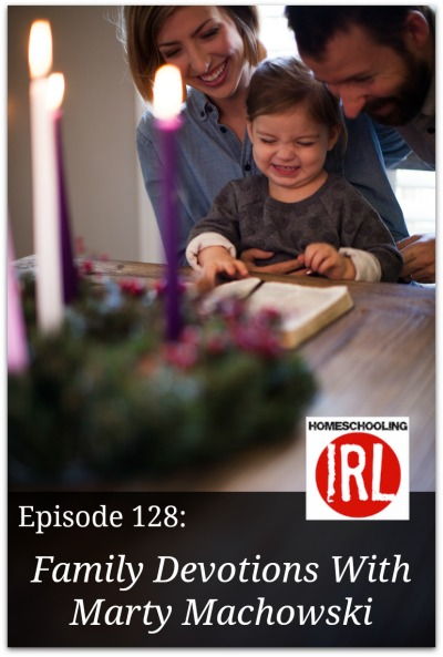 Free homeschool podcast about family devotions.