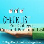 Best of College Prep Genius:  Checklist For College – Car and Personal
