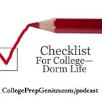 checklist for college dorm life