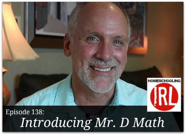 Free homeschool podcast about the Mr. D online math program