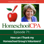 How can I thank my homeschool group's volunteers?