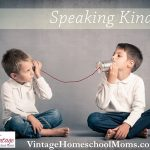 Teaching Children To Speak Kindly