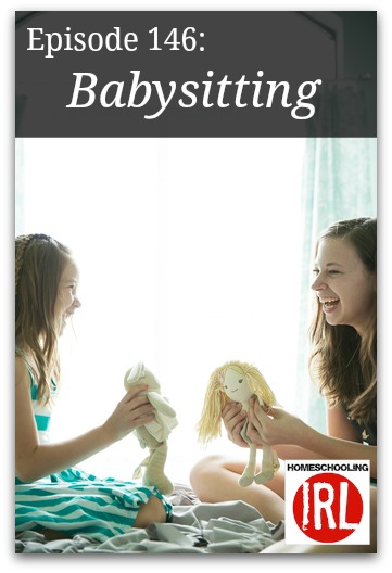 Free homeschooling podcast about sibling babysitting.