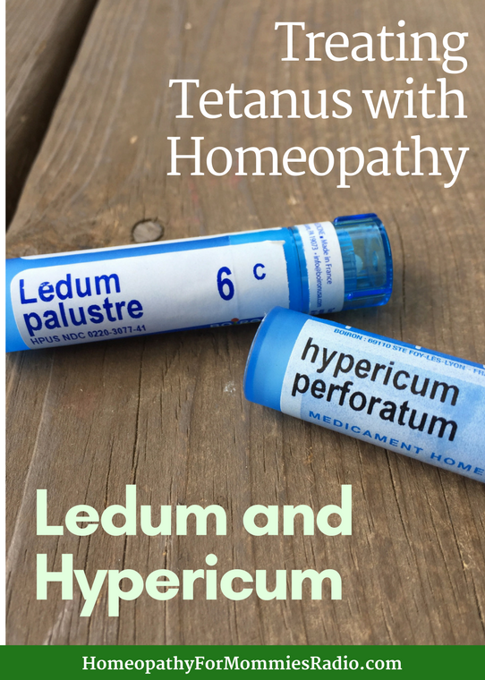 Using Hypericum and Ledum to treat Tetanus with Homepathy!