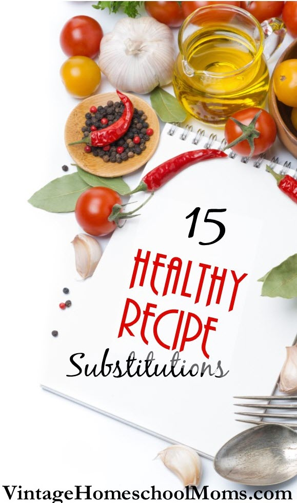 "15 healthy recipe substitutions | When I started to look at my favorite recipes I was shocked to see that most of them contained ""bad-for-you"" items."