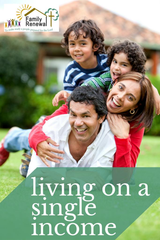 living on a single income