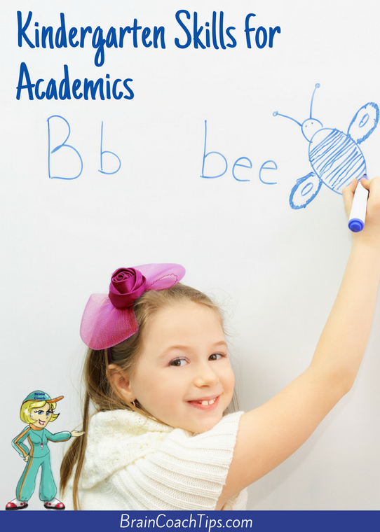 Kindergarten Skills for Academics with the Brain Coach