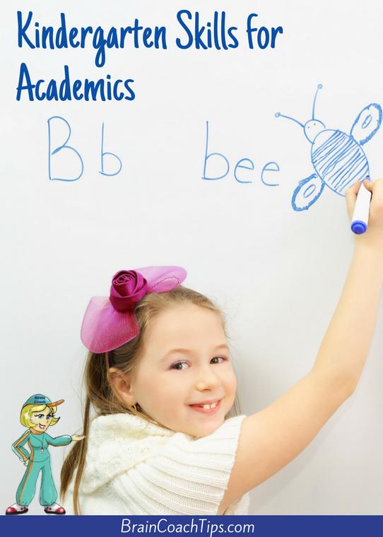Kindergarten Skills for Academics with the Brain Coach
