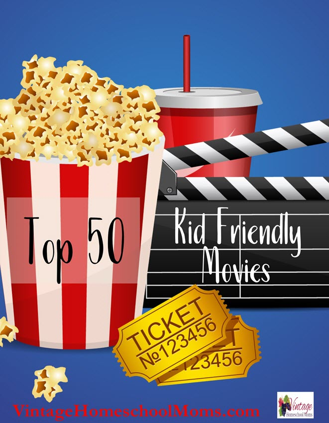 "Top 50 Kid Friendly Movies | Does the rating have to be ""G"" to be a kid-friendly movie? In this episode I'll discuss the way I decide if a movie will make it to our favorite movie list! #Homeschool #homeschooling #podcast #kidmovies"