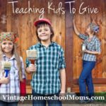 Teaching Kids To Give