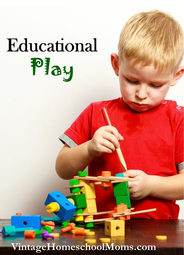 educational play | Educational play is a great tool to not only teach children but to encourage them to think. #Homeschool #homeschooling #podcast #educationalplay